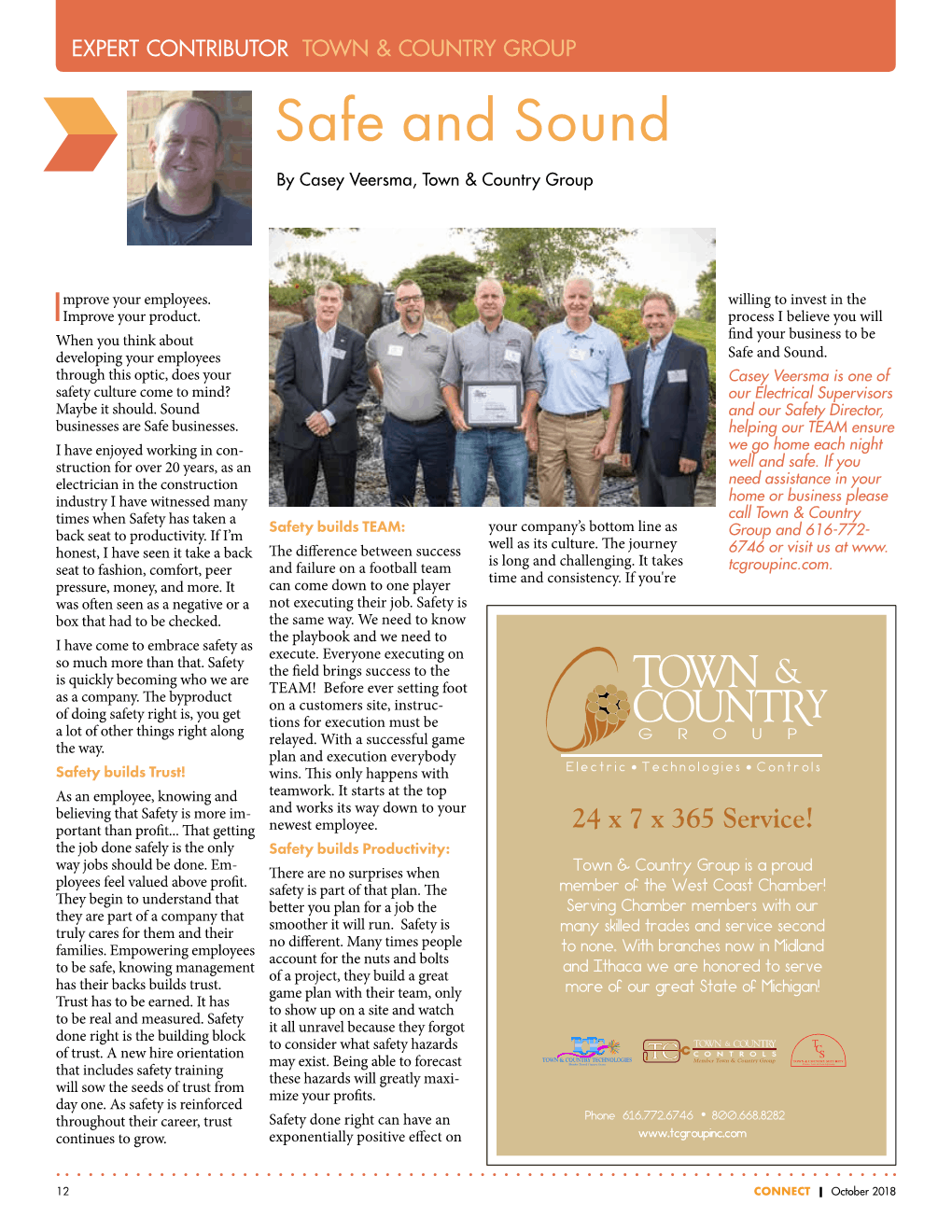 A recent article by our staff on Momentum.  Published in the West Coast Chamber of Commerce, Connect October 2018 edition.